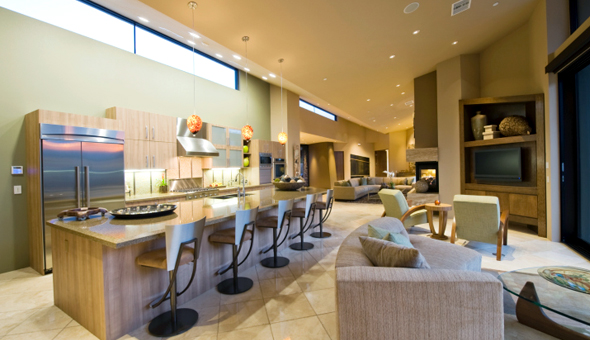 8 tips for decorating open concept homes for Concept home builders
